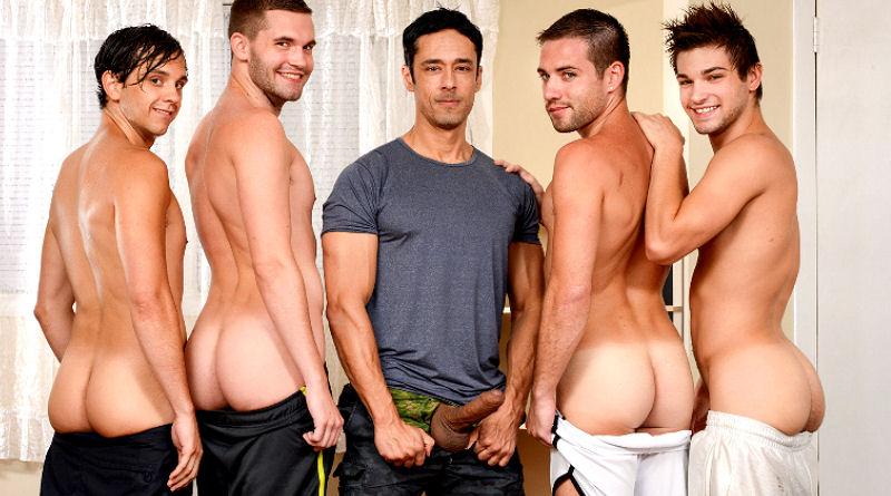 Rafael Alencar fode com mais 4 boys