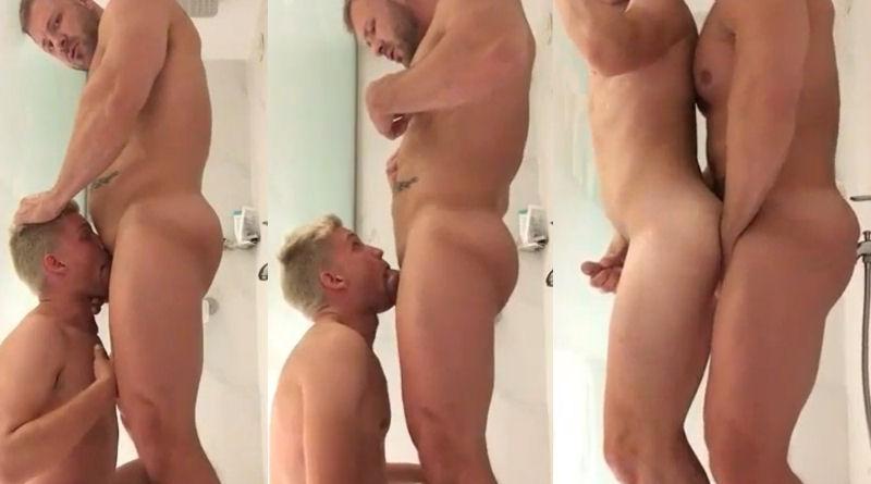 Austin Wolf fode loiro no chuveiro