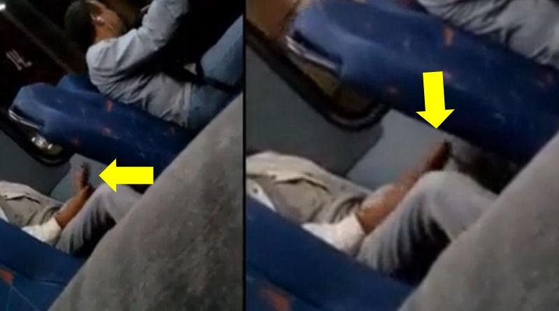Dotado mostra rola no ônibus