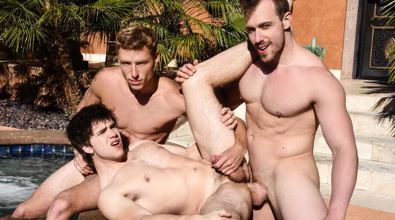 Foda na piscina: Blake Hunter, Justin Matthews e Will Braun