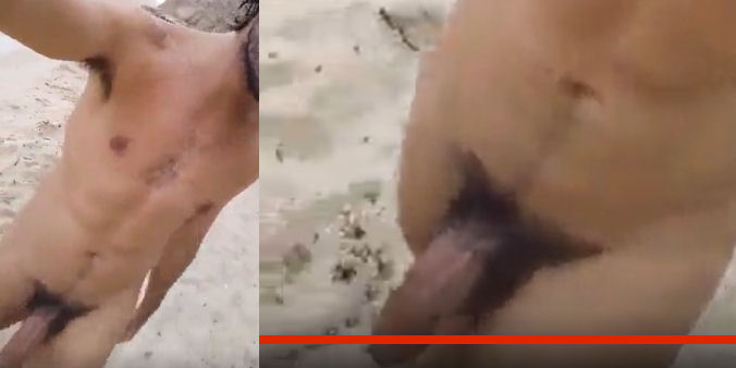 Minha rola na praia