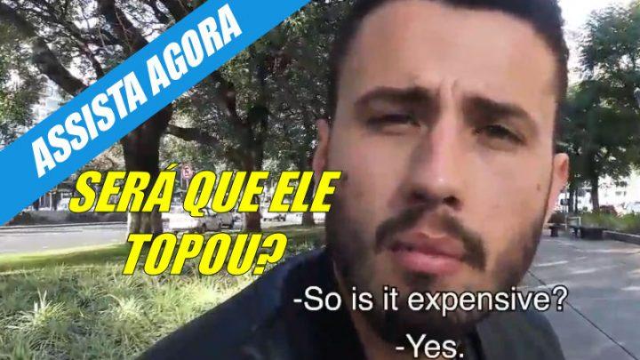 Brasileiro é abordado na rua pelo gringo caçador