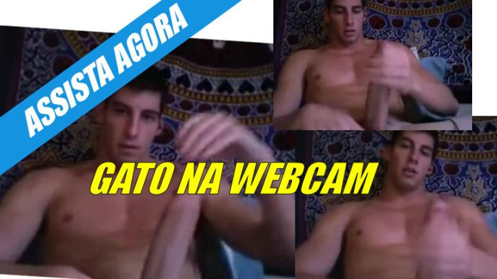 Gatão sarado na webcam