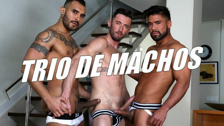 Foda com trio de machos, incluindo Lucio Saints