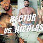Nicholas Brooks dando o rabo para Hector De Silva