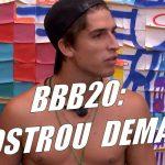 BBB20: Felipe mostra o pau ao se trocar
