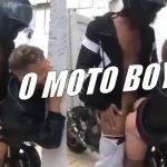 Motoboy roludo me comeu na garagem
