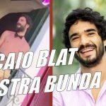 Caio Blat mostra bunda no Carnaval de Olinda