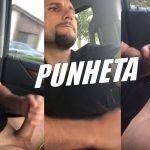 Dirigindo e tocando uma punheta