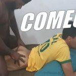 Vitor Guedes come passivo depois de jogo