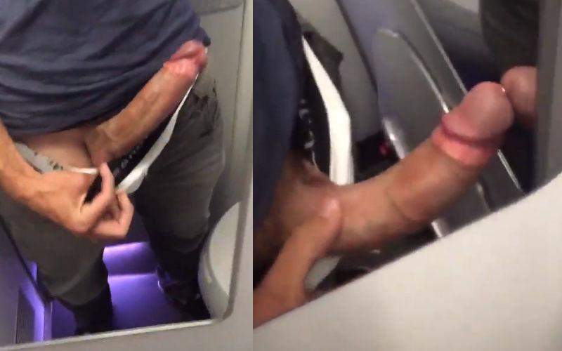 Fiquei com a rola dura dentro do avião
