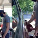 Safado abastece carro de pau duro