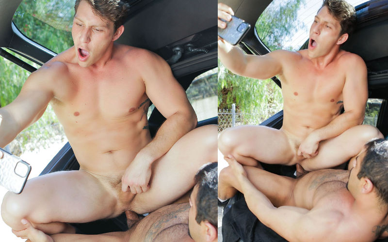 Parando o carro para foder!